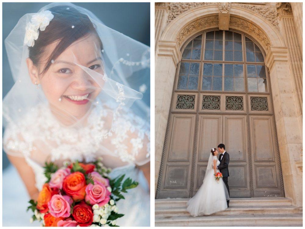 Paris Photographer  Romantic bride photography Paris