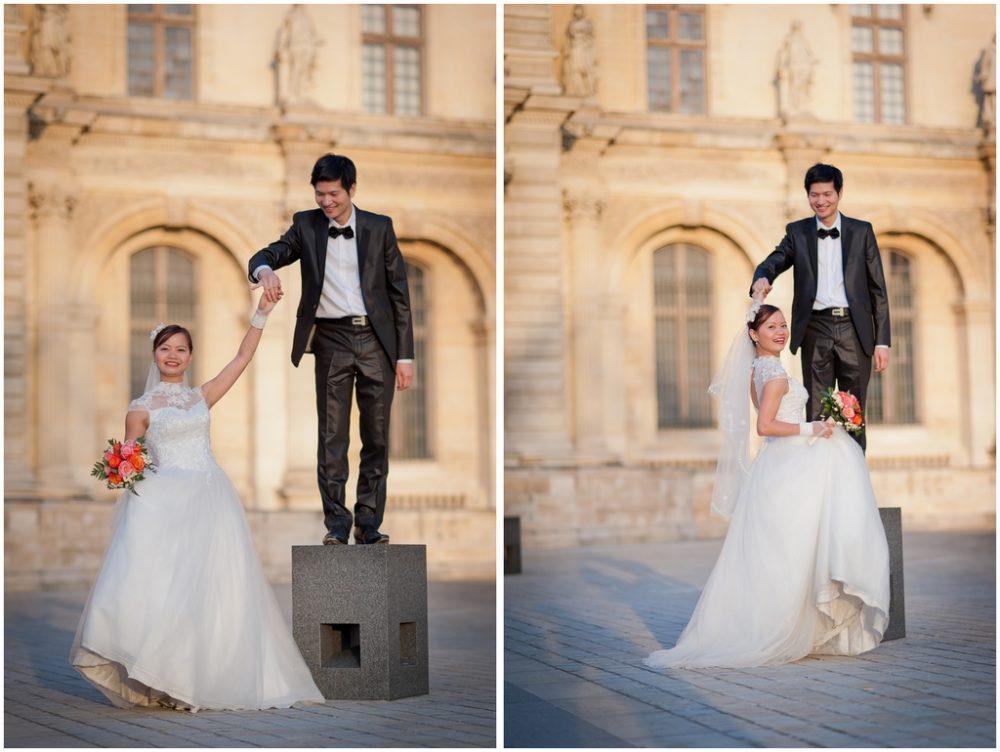 Paris Photographer dancing at Louvre