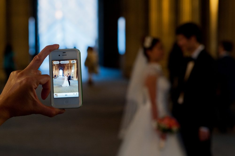 Paris Photographer iphone reflection photograph
