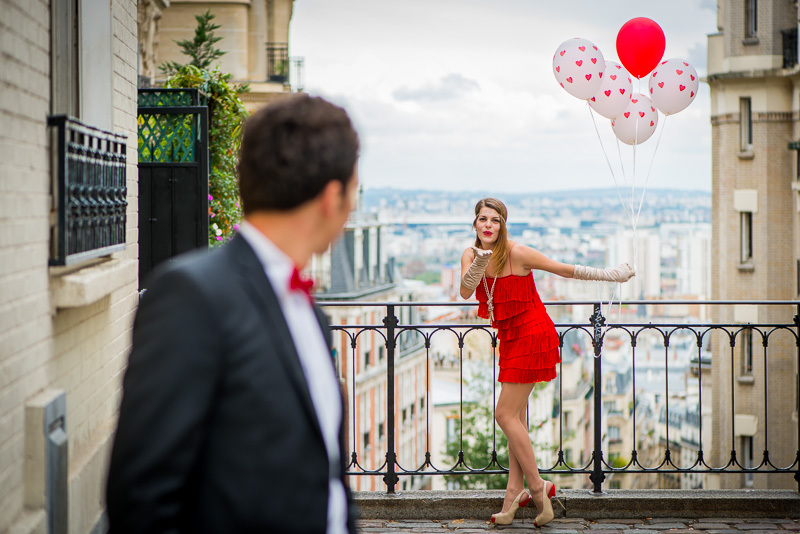 Paris photo session anniversary photography in Paris