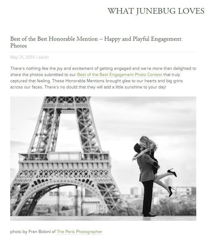 Best of the best honorable mention - happy and playful engagement photos - the paris photographer