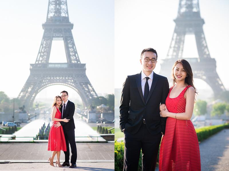 Cute couple engagement photos in Paris