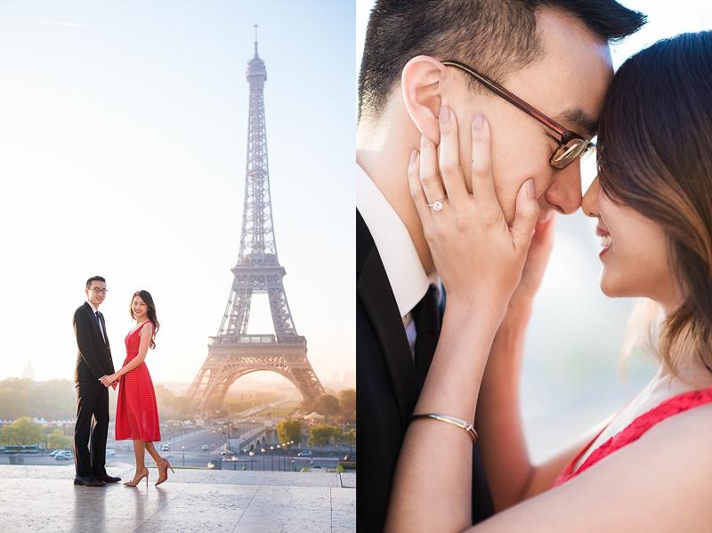 Engagement picture in Paris