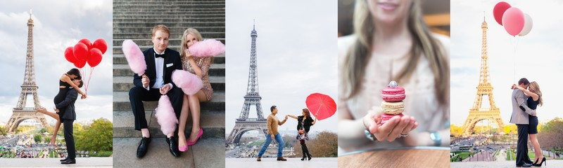 Props for Paris photo sessions balloons, cotton candy, umbrellas