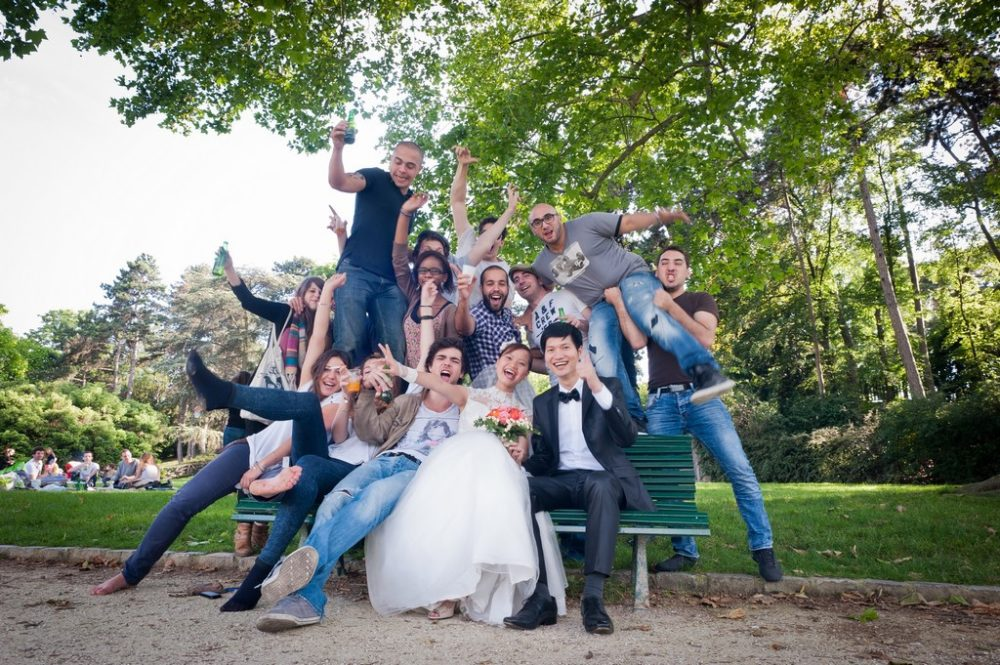 Paris Photographer fun photo wedding in Paris