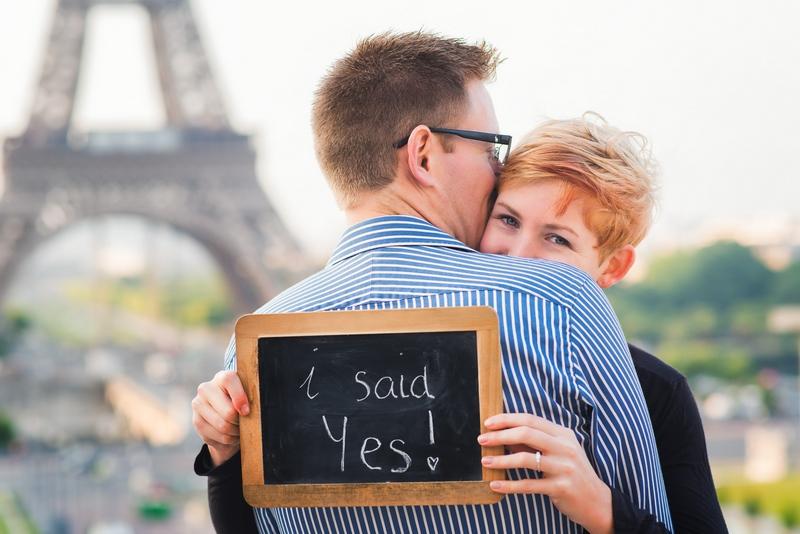 I said yes in Paris - proposing in Paris
