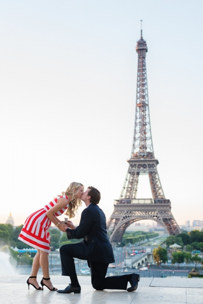 Morning surprise proposal in Paris – Danielle and Ivan 1