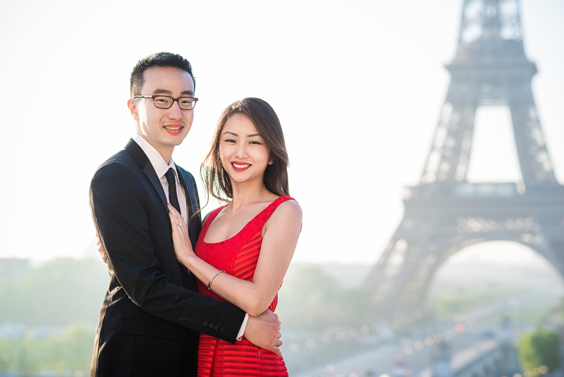 Parent pleaser in front of the Eiffel Tower