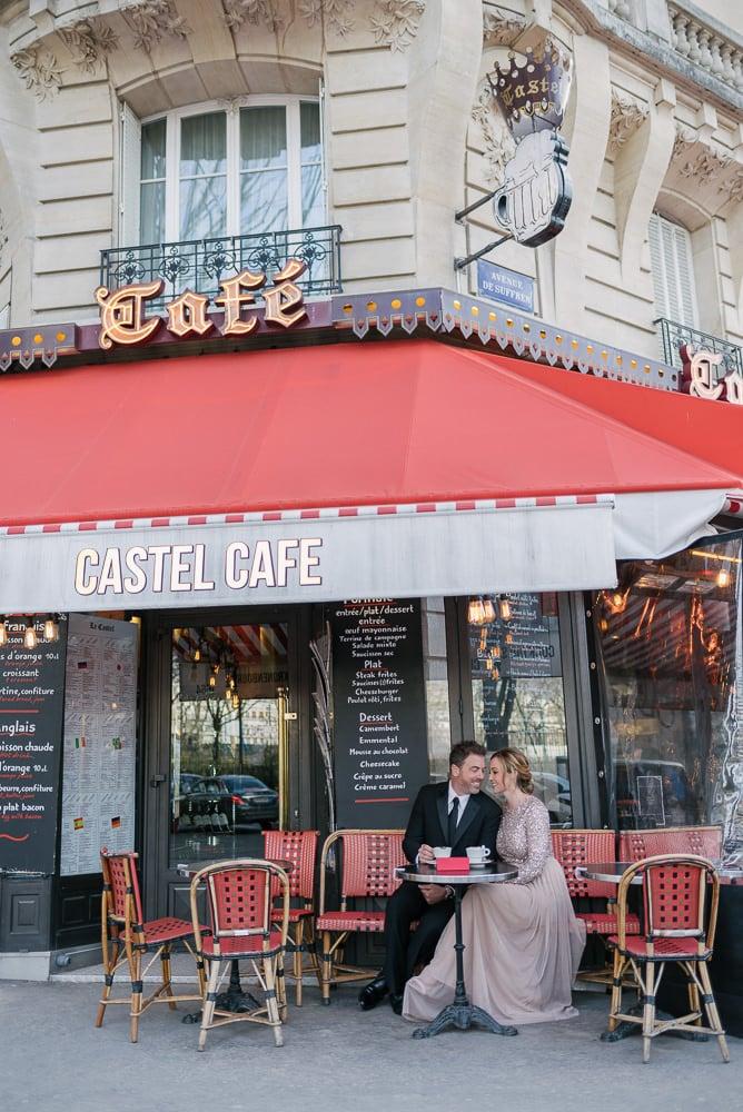 best photography spots in Paris café castel