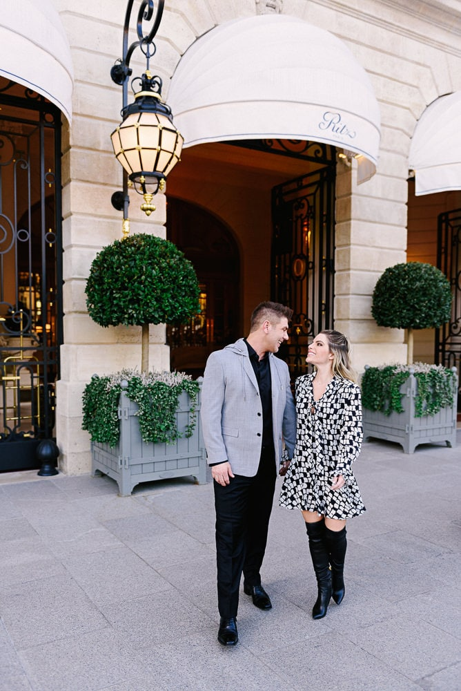best places to take photos in paris in front of ritz paris
