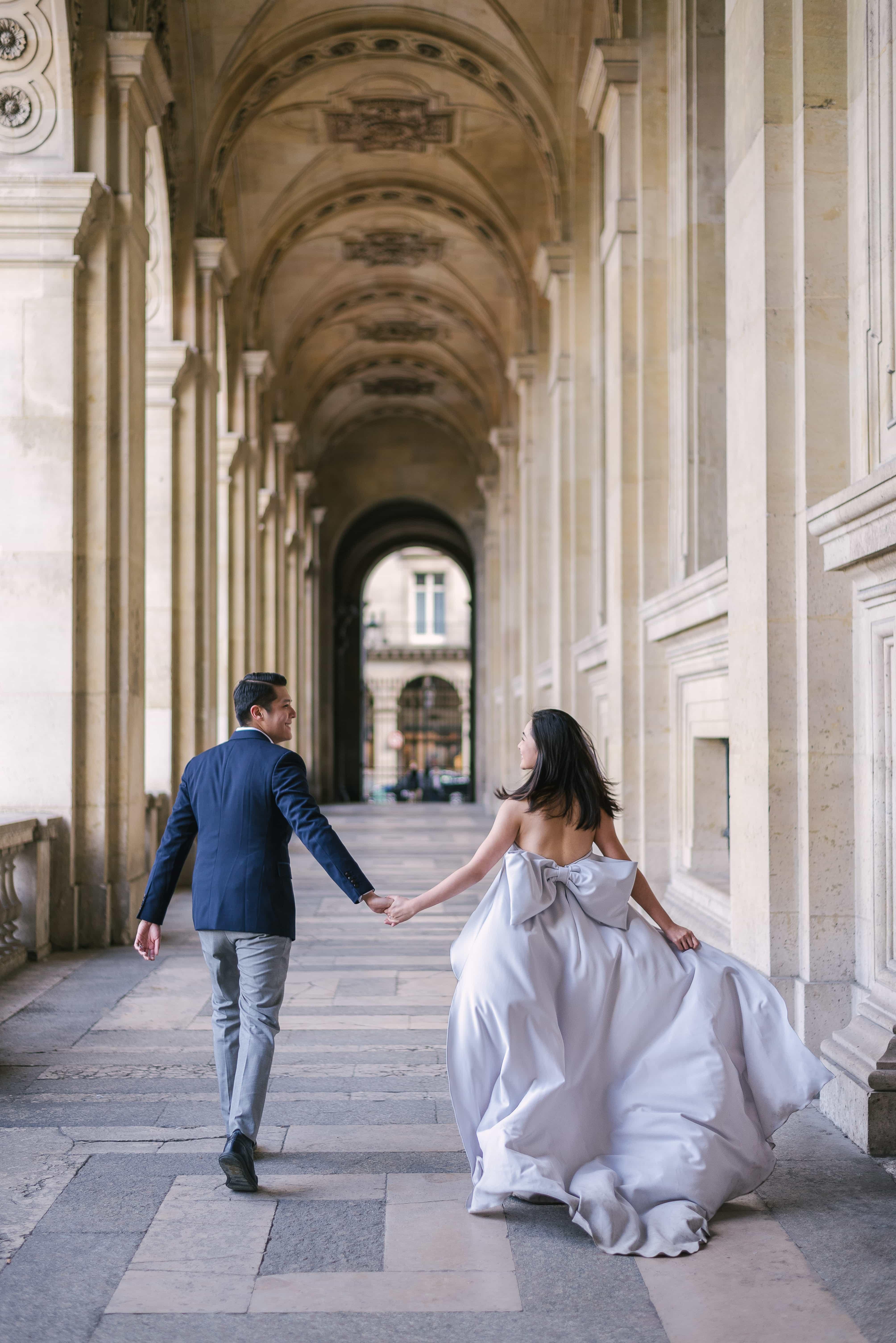 best places to take photos in paris – louvre museum elegant arches