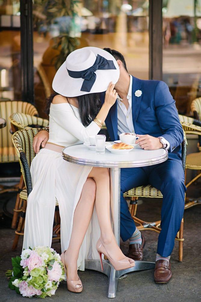 most romantic spots in paris café du trocadéro