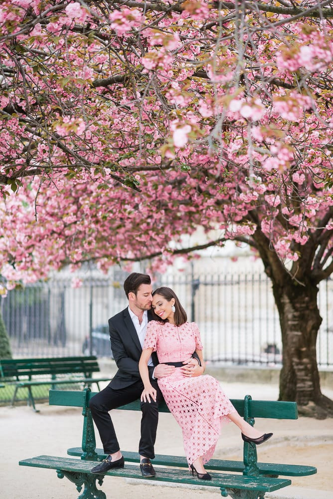 most romantic spots in paris cherry blossoms by the notre dame