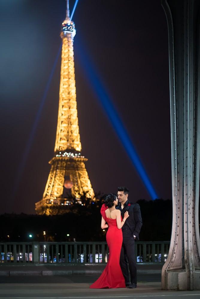 most romantic spots in paris the eiffel tower seen from the bir hakeim bridge