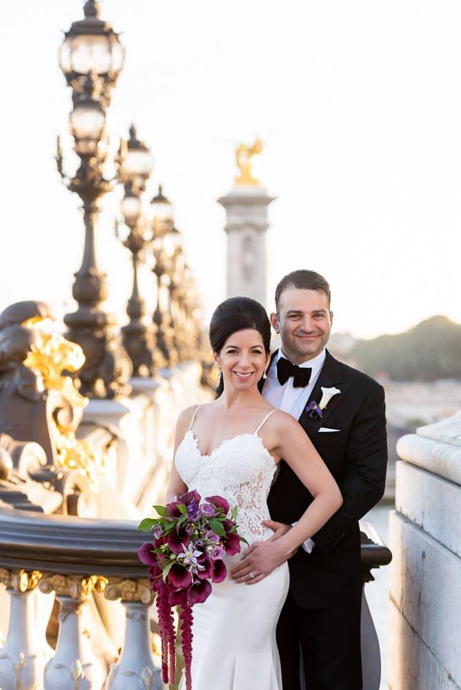 Hotel Crillon Paris wedding – Alexander 3 bridge portraits -2