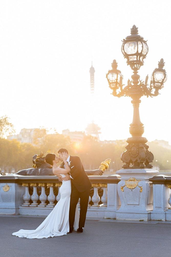 Hotel Crillon Paris wedding – Alexander 3 bridge portraits -6